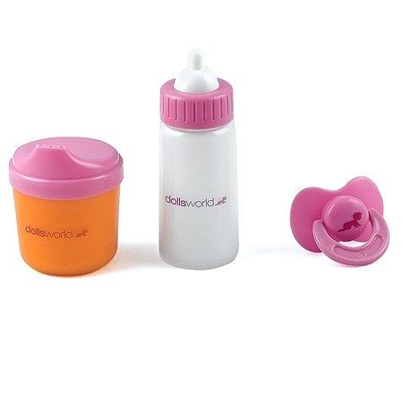 Набор для куклы Dolls World бутылочка для молока, сока, пустышка