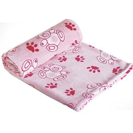 Плед Babyton детский велсофт премиум Розовый