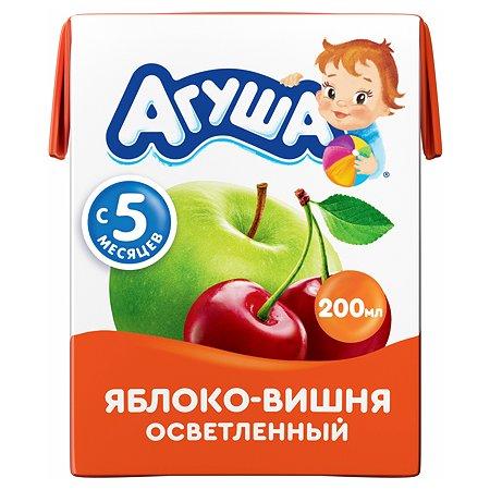 Сок Агуша яблоко-вишня осветлённый без сахара 0.2л с 5месяцев