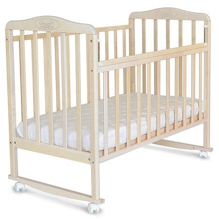 Кровать детская Наша Мама Джулия Лайт с колесами Снежная береза 760115