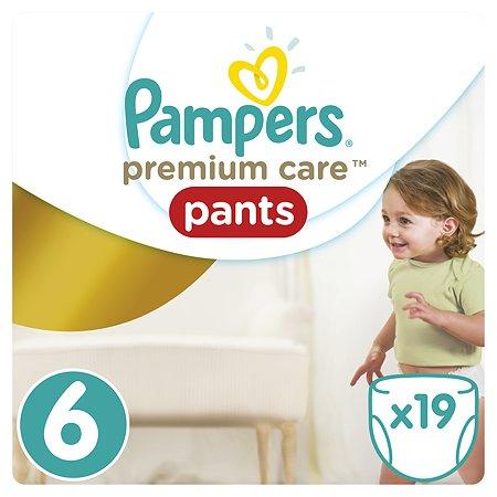 Подгузники-трусики Pampers Premium Care 6 16+кг 19шт