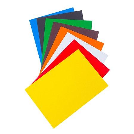 Цветной картон Silwerhof 8цв./8л. А4 блок
