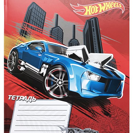 Тетрадь Hot Wheels 18л линейка