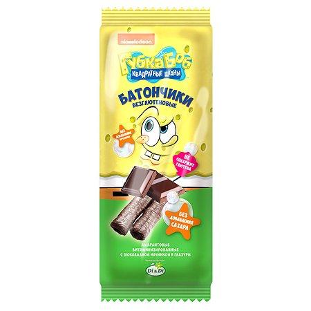 Батончики Sponge Bob амарантовые с шоколадной начинкой глазированные 20г