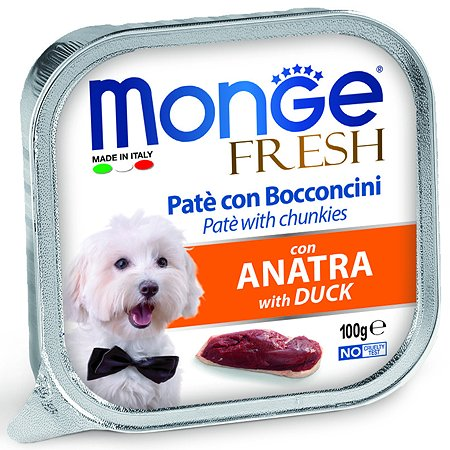 Корм для собак MONGE Dog Fresh утка консервированный 100г