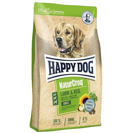 Корм для собак Happy Dog Premium NaturCroq ягненок-рис 15кг