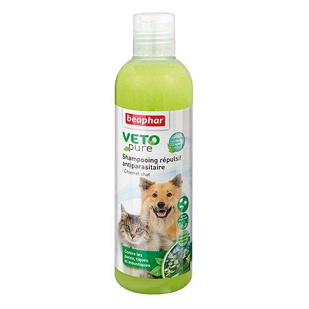 Шампунь для собак и кошек Beaphar Veto pure от паразитов 250мл