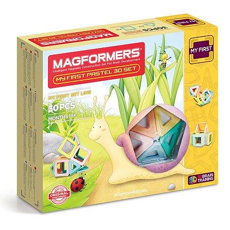 Магнитный конструктор Magformers My First Pastel Set 30P
