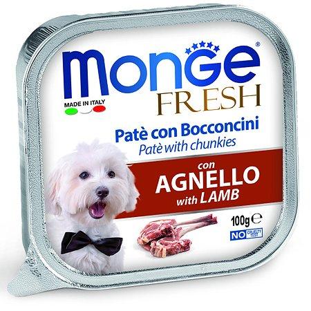 Корм для собак MONGE Dog Fresh ягненок консервированный 100г
