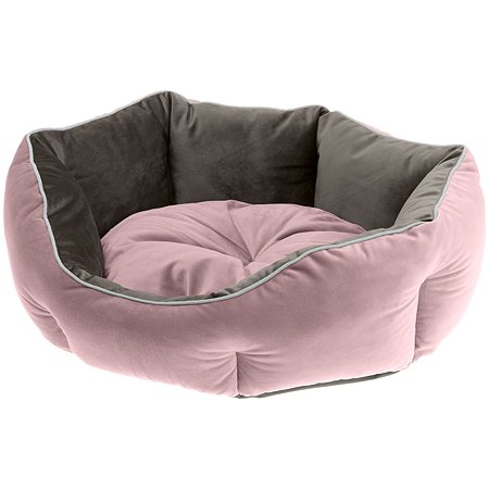 Софа для животных Ferplast Queen 45 двухсторонняя Розово-серая