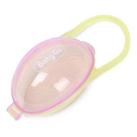 Контейнер для пустышки BabyGo Green-Purple S4-0020