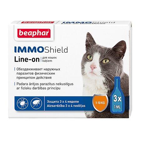 Капли для кошек Beaphar Immo Shield от блох и клещей 3мл