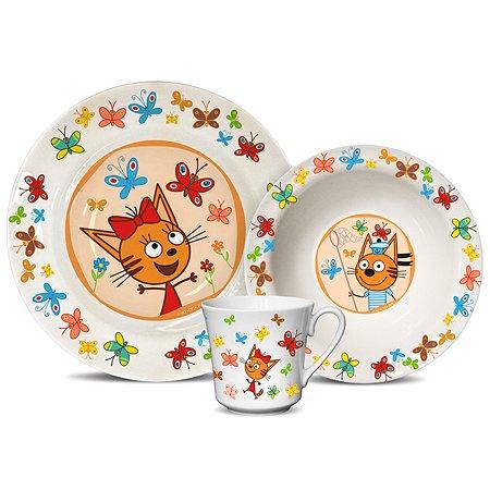 Набор посуды PRIORITY Три кота Бабочки 3предмета КРС-821