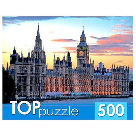 Пазлы 500 элементов Рыжий кот TOPpuzzle Лондон Вестминстерский дворец КБТП500-6805