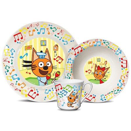 Набор посуды PRIORITY Три кота Нотки 3предмета КРС-820