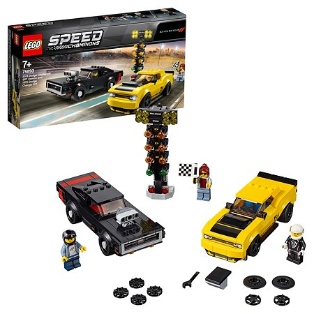 Конструктор LEGO Speed Champions Автомобили 2018 Dodge Challenger SRT Demon+1970 Dodge Charger R/T 75893