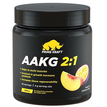 Коктейль Prime Kraft AAKG 2:1 фруктово-ягодный персик-маракуйя 200г
