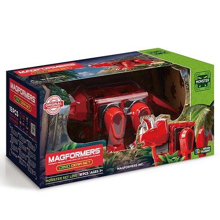 Магнитный конструктор Magformers Dino Cera Set 18P