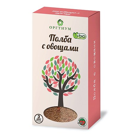 Полба Оргтиум с овощами 185г