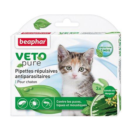 Капли для котят Beaphar Veto pure от блох и клещей 1.2мл