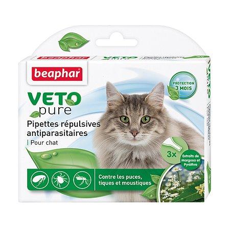 Капли для кошек Beaphar Veto pure от блох и клещей 3мл