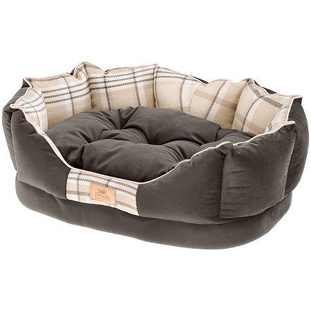 Софа для животных Ferplast Charles 50 с двухсторонней подушкой Коричневая