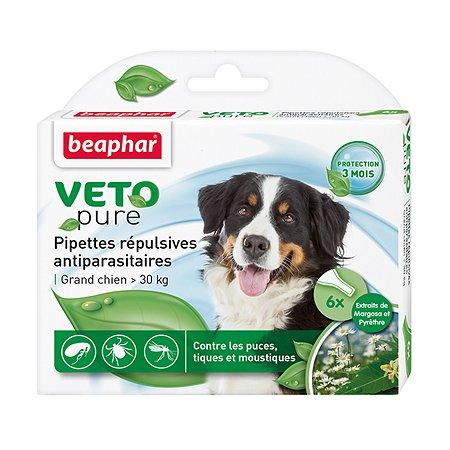 Капли для собак Beaphar Veto pure крупных пород от блох и клещей 12мл