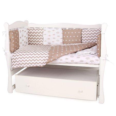 Комплект постельного белья AMARO BABY Королевский 4предмета Коричневый