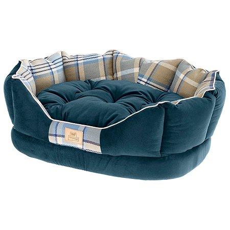 Софа для животных Ferplast Charles 60 с двухсторонней подушкой Синяя