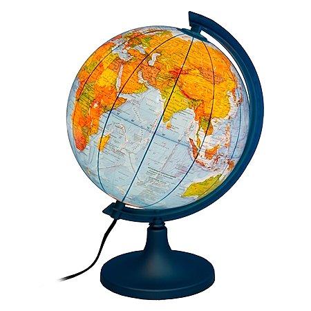 Глобус физико-политический Ди Эм Би 25 см с подсветкой