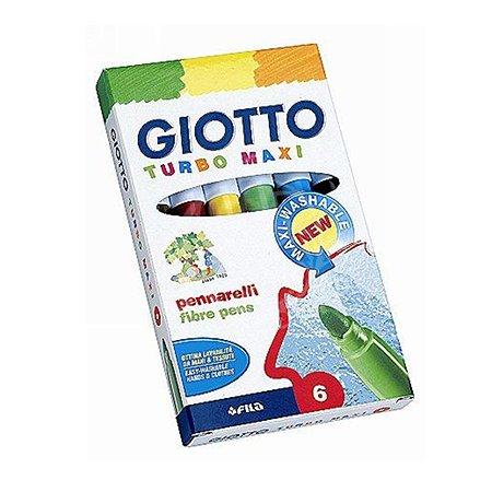Набор фломастеров Fila Giotto Turbo Maxi 6цветов 453000