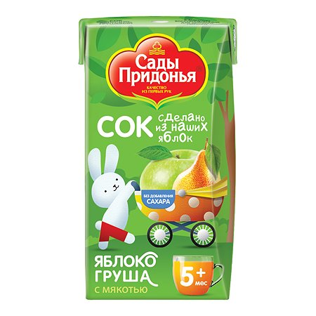 Сок Сады Придонья яблоко-груша 0.125л с 3лет