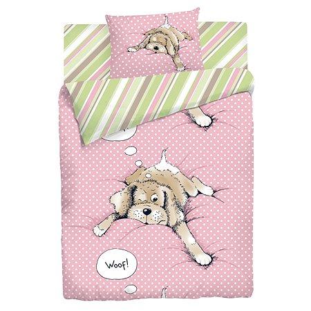 Комплект белья 1.5 сп. Мармелад Спящая собака(наволочка 70 х 70 см)