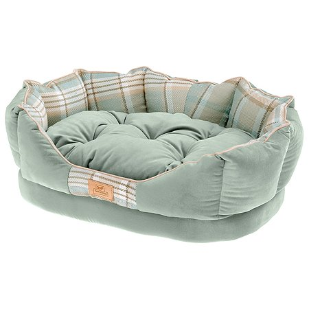 Софа для животных Ferplast Charles 70 с двухсторонней подушкой Зеленая
