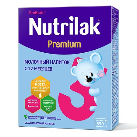 Смесь Nutrilak Premium 3 350г с 12месяцев