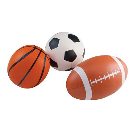 Набор мячей ELC для игры в футбол баскетбол и рэгби 3шт 111514