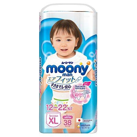 Подгузники-трусики Moony Girl XL 12-22кг 38шт
