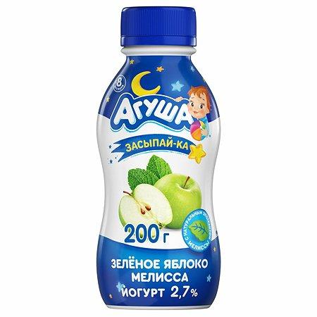 Йогурт питьевой Агуша Засыпайка яблоко зеленое-мелисса 2.7% 0.2л