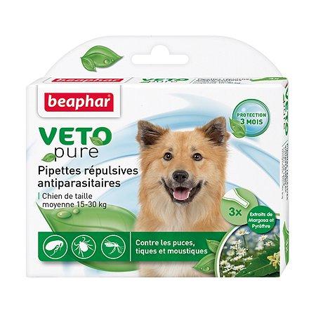 Капли для собак Beaphar Veto pure средних пород от блох и клещей 6мл