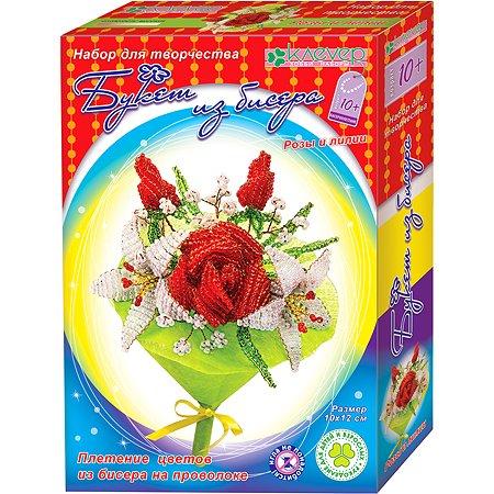 Набор для творчества КЛЕVЕР изготовление букета Розы и лилии АА 42-620
