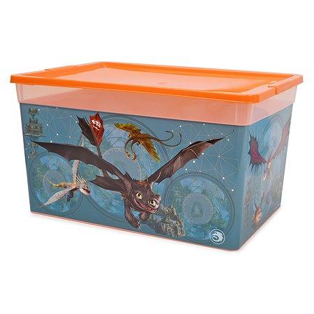 Коробка Полимербыт Как приручить дракона 16л Оранжевая