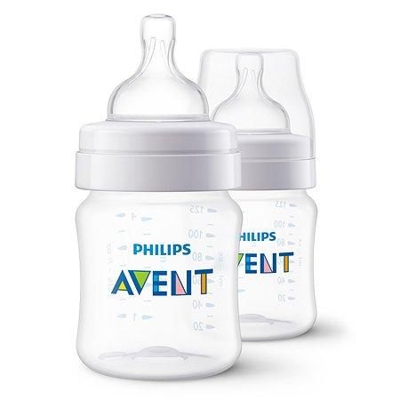 Бутылочка Philips Avent Anti-colic 125мл с 0месяцев 2шт SCF810/27