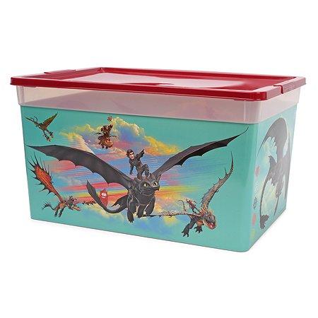Коробка Полимербыт Как приручить дракона 16л Бордовая