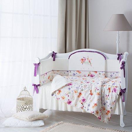 Комплект постельного белья Perina Акварель 6предметов Молочный с рисунком