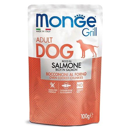 Корм для собак MONGE Dog Grill Pouch лосось пауч 100г
