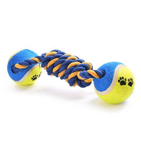 Игрушка для собак FAUNA Гантель с мячами на подвесе FIRT-0018