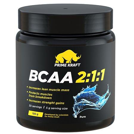 Комплекс Аминокислотный Prime Kraft BCAA 2:1:1 (БЦАА) натуральный 150г