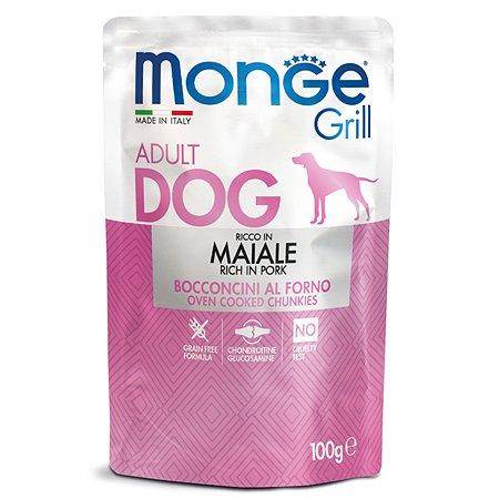 Корм для собак MONGE Dog Grill Pouch свинина пауч 100г
