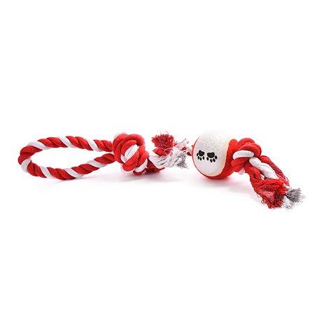 Игрушка для собак FAUNA Канатик с мячом 2узла на подвесе FIRT-0017