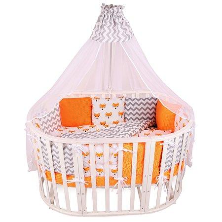 Комплект постельного белья AMARO BABY Хитрый лис 8предметов Оранжевый